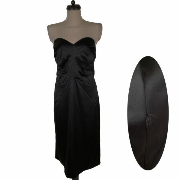 Szatén fekete ruha