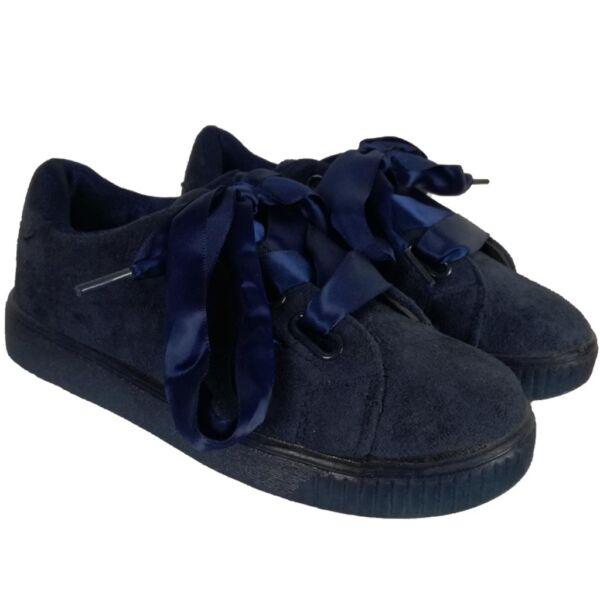 Velúr kislány cipő