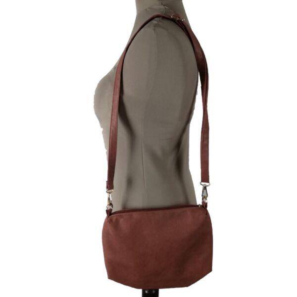Barna műbőr táska