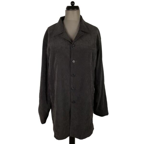 Szürke bársony kabát