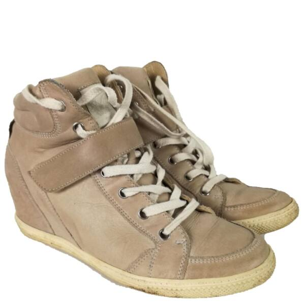 Műbőr platform cipő