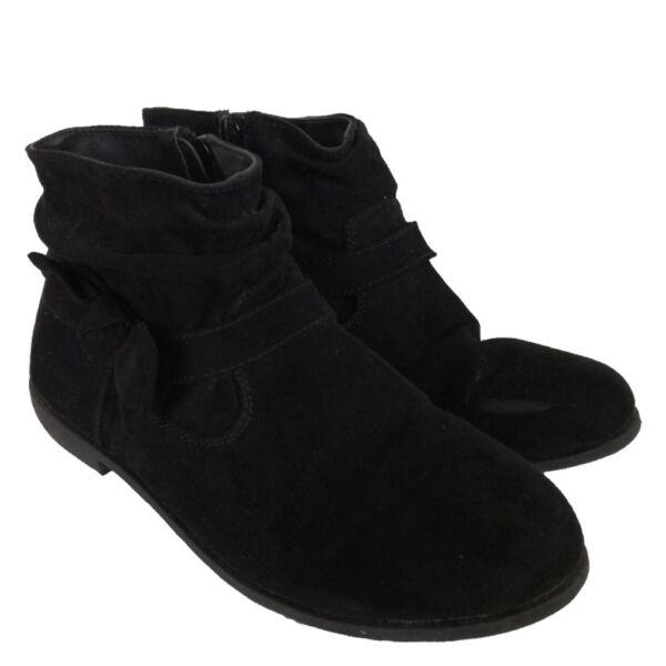 Fekete bokacipő