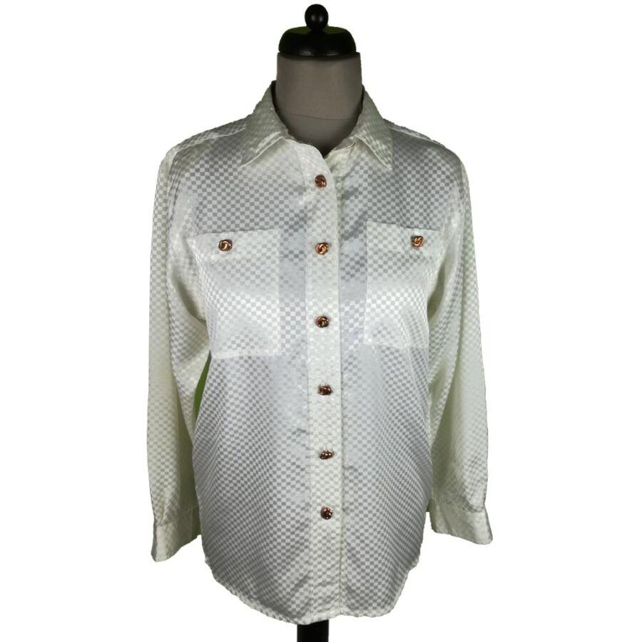 Kockás szatén ing