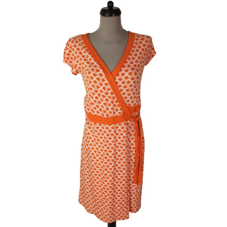 Narancssárga átlapolt ruha